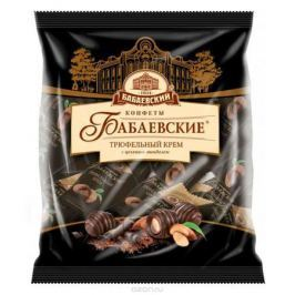 Бабаевские Трюфельный крем конфеты со вкусом трюфеля и целым миндалем в шоколадной глазури, 200 г