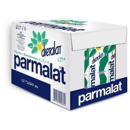 Parmalat Dietalat молоко ультрапастеризованное 0,5% обогащенное витаминами, 12 шт по 1 л