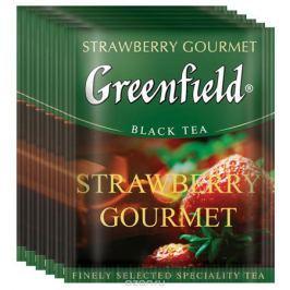 Greenfield Strawberry Gourmet черный чай в пакетиках, 100 шт
