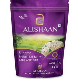 Alishaan Superba пропаренный басмати супер длиннозерный индийский рис, 1 кг