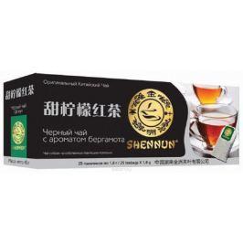 Shennun чай черный c бергамотом пакетированный, 25 шт