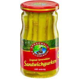 Spreewald Feldmann Огурцы маринованные для сандвичей, 370 мл
