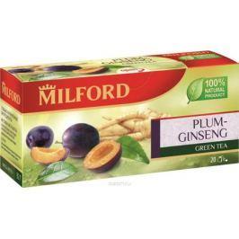 Milford Слива-Женьшень зеленый чай в пакетиках, 20 шт