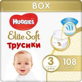 HUGGIES Трусики-подгузники Huggies Elite Soft 3, 6-11 кг, 108 шт.