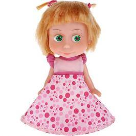Карапуз Кукла Карапуз Маша и Медведь Маша в платье для Дня рождения, озвученная, 15 см