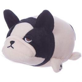 ABtoys Мягкая игрушка ABtoys Собачка розовая с черным, 13 см