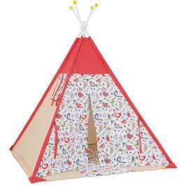 Polini-kids Палатка-вигвам детская Polini Кантри, красная