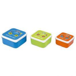 TRUNKI Контейнеры для еды 3 шт, голубой, оранжевый, зеленый