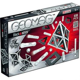 Geomag Магнитный конструктор Geomag Black & White, 68 деталей