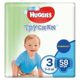 HUGGIES Трусики-подгузники Huggies 3 Mega Pack для мальчиков, 7-11кг, 58 шт.