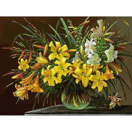 Белоснежка Картина по номерам Белоснежка «Золотая лилия», 30x40 см