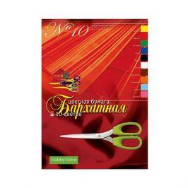 Альт Набор цветной бумаги № 10 Альт А4, 10 листов (бархатная)