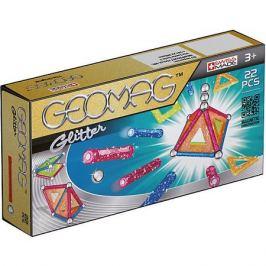 Geomag Магнитный конструктор Geomag Glitter, 22 детали
