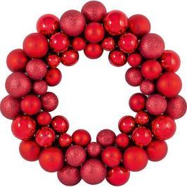 Волшебная страна Новогодний венок из шариков Magic Land, 33 см (красный)