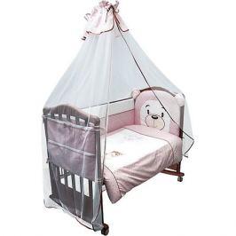 Сонный гномик Комплект в кроватку 6 предметов Сонный гномик, Умка, розовый
