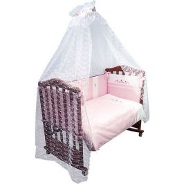 Сонный гномик Комплект в кроватку 7 предметов Сонный гномик, Прованс, розовый