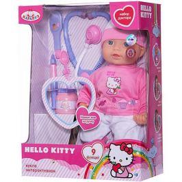 Карапуз Кукла-пупс Карапуз Hello Kittyс набором доктора, 40 см, 9 функций