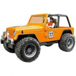 Bruder Машинка Bruder Внедорожник с гонщиком Cross Country Racer, оранжевый