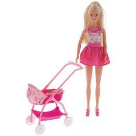 Simba Кукла Штеффи с ребёнком, 29 см,розовая, Simba