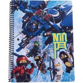 LEGO Тетрадь на спирали (70 листов, линейка) LEGO Ninjago Movie (Лего Фильм: Ниндзяго), размер: 20,3х26,6см