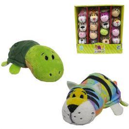 1Toy Мягкая игрушка-вывернушка 1toy Радужный тигр - Черепаха, 12 см