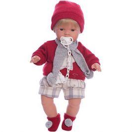 Llorens Кукла-пупс Llorens Саша в красной кофточке и шортах, 38 см