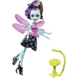Mattel Мини-кукла Monster High «Цветочные Монстры» Стрекоза Вингрид с питомцем, 13 см