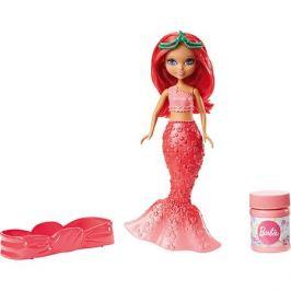 Mattel Маленькая русалочка Barbie с пузырьками, в красном