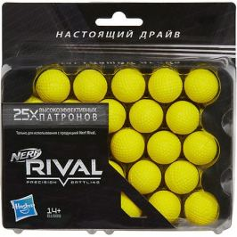 Hasbro 25 шариков Nerf для бластеров Rival