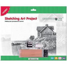 Greenwich Line Набор для рисования скетча Greenwich Line «Дом на холме»