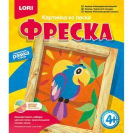 LORI Фреска, Картина из песка Разноцветный попугай