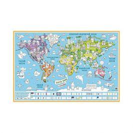 Бумбарам Карта-раскраска настенная карта мира