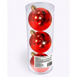 B&H Набор елочных шаров B&H 3 шт, 9 см., красные