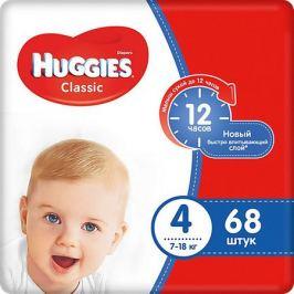 HUGGIES Подгузники Huggies Classic (4) Mega Pack 7-18 кг, 68 шт.