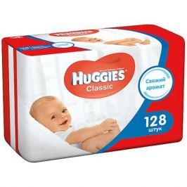 HUGGIES Детские влажные салфетки Huggies Classic двойные 64*2, 128шт.