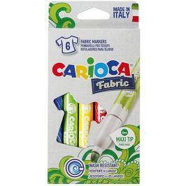 Carioca Набор фломастеров по текстилю CARIOCA, 6 цв., в картонной коробке с европодвесом
