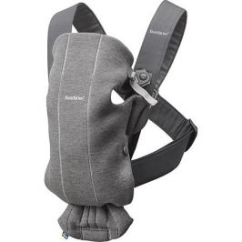 BabyBjorn Рюкзак-кенгуру BabyBjorn Mini Cotton Jersey тёмно-серый