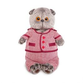 Budi Basa Мягкая игрушка Budi Basa Кот Басик в красном пиджаке и брюках в ёлочку, 19 см