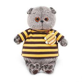 Budi Basa Мягкая игрушка Budi Basa Кот Басик в полосатой футболке с пчелой, 19 см