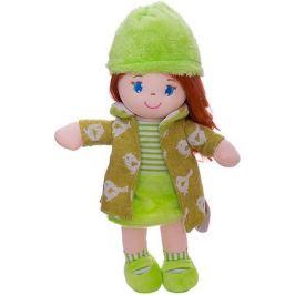 ABtoys Мягкая кукла ABtoys рыжая в зелёном пальто, 36 см