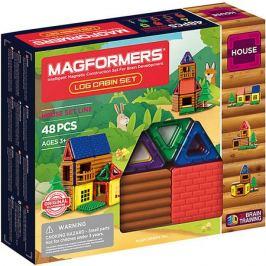 MAGFORMERS Магнитный конструктор MAGFORMERS Log cabin set, 48 деталей