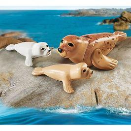 PLAYMOBIL® Игровой набор Playmobil Тюлень с детенышами, 3 детали