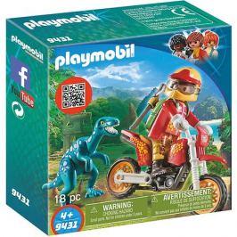 PLAYMOBIL® Конструктор Playmobil Гоночный мотоцикл с ящером, 7 деталей