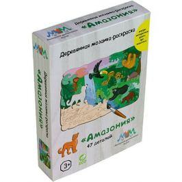 МУМ Деревянная мозаика-раскраска МУМ