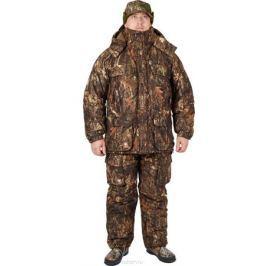 Костюм охотничий мужской Canadian Camper Hunter: куртка, полукомбинезон, цвет: коричневый. Hunter_Цифра. Размер 3XL (56/58), рост 180-188