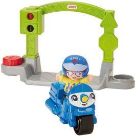 Mattel Транспортное средство Fisher-Price Little People Stop&Go Police Motorcycle
