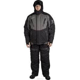 Костюм универсальный мужской Canadian Camper Tundra: куртка, полукомбинезон, цвет: черный, серый. Tundra_Black/Grey. Размер 3XL (54/56)