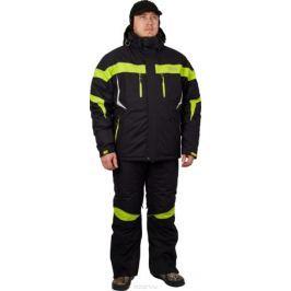 Костюм рыболовный мужской Canadian Camper Nelson: куртка, полукомбинезон, цвет: черный, зеленый. Nelson_Black. Размер 3XL (56/58)