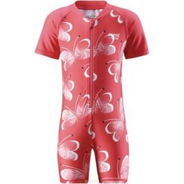 Купальный костюм детский Reima Odessa, цвет: розовый, белый. 5163453343. Размер 98