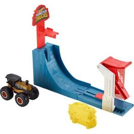 Mattel Автотрек Hot Wheels Monster Trucks Поединок в воздухе